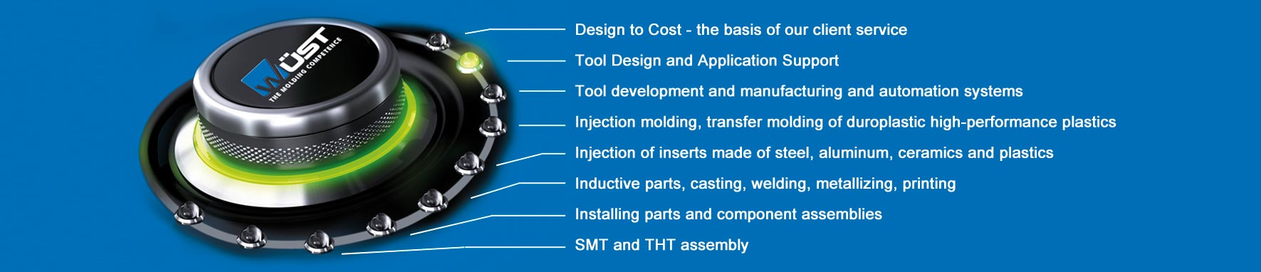 WÜST-Services around precision injection molding