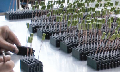 Series assembly of inductors
