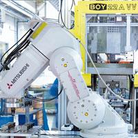 Automatisierte Teileumspritzung